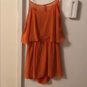 Lovers+Friends orange mini dress